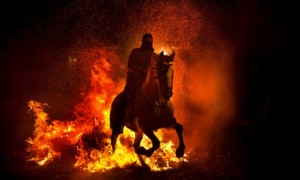 Spain San Anthony Bonfire Festival