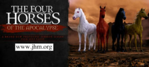 UNVEILING THE SECRETS OF THE FOUR HORSEMEN Four horse of revelation are riding! First seal: The Conqueror - Revelation 6:1-2 Now I saw when the lamb...
